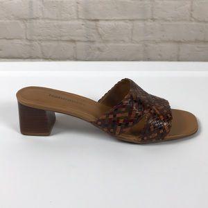 Naturalizer  Weave Leather Slide Sandals size 8